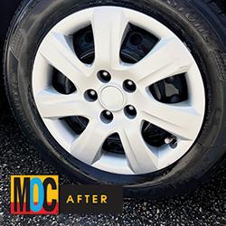 Clean rim & tire